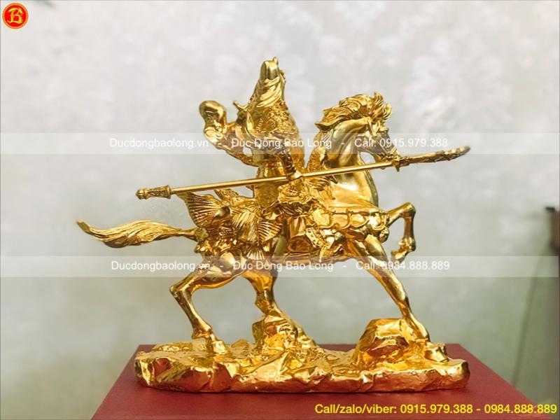 tượng quan công cưỡi ngựa 22cm