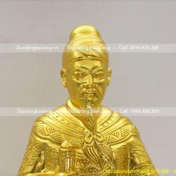 tượng trần hưng đạo thếp vàng 48cm