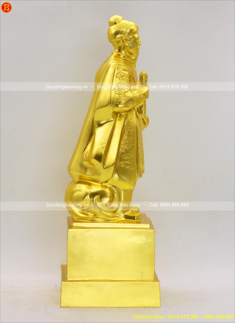 tượng trần hưng đạo thếp vàng đẹp