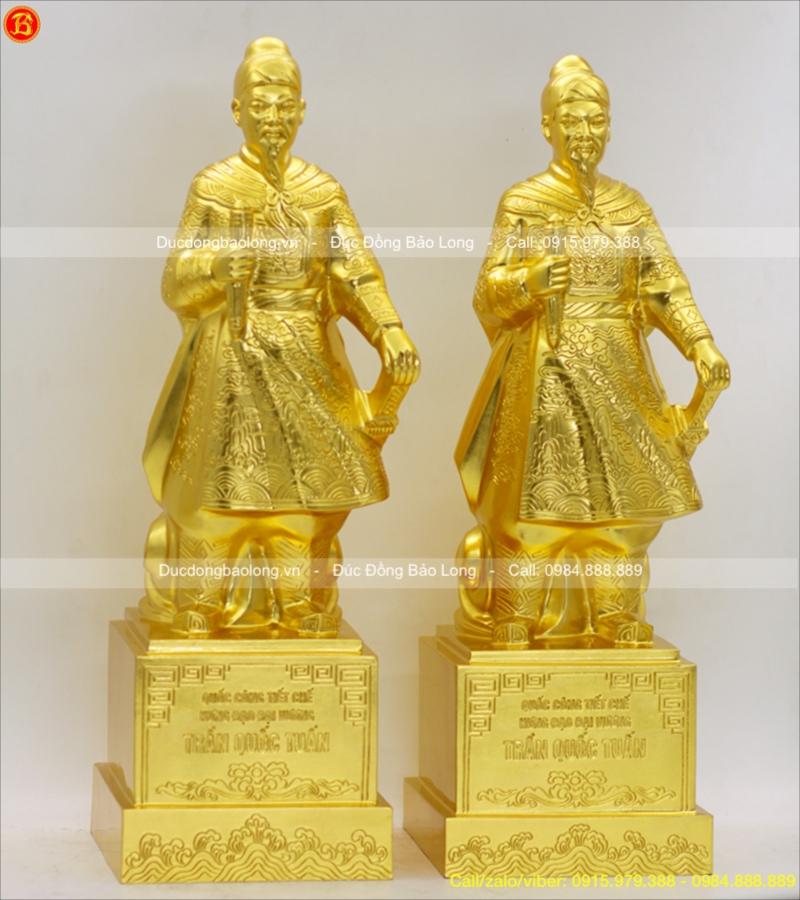 tượng trần hưng đạo thếp vàng