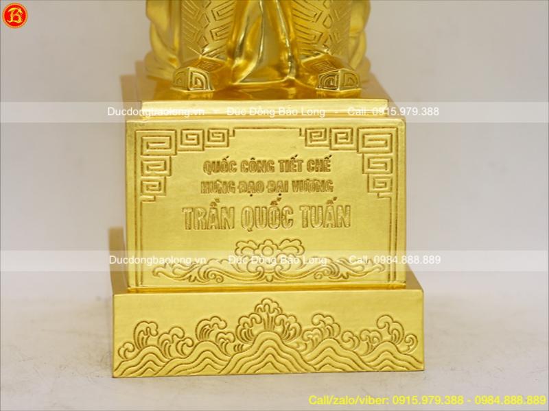 tượng trần quốc tuấn thếp vàng