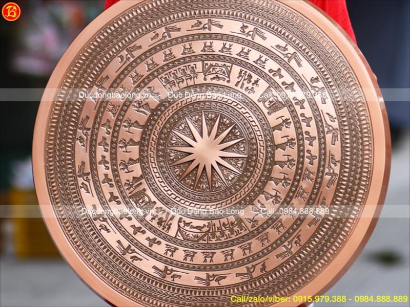 Mặt Trống Đồng Ngọc Lũ Đúc Đồng Đỏ 70cm Trang Trí