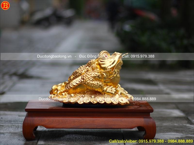 Cóc Phong Thuỷ Dát Vàng cao 25cm