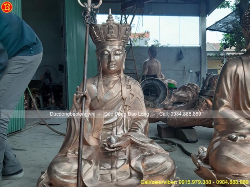 tượng địa tạng vương bằng đồng