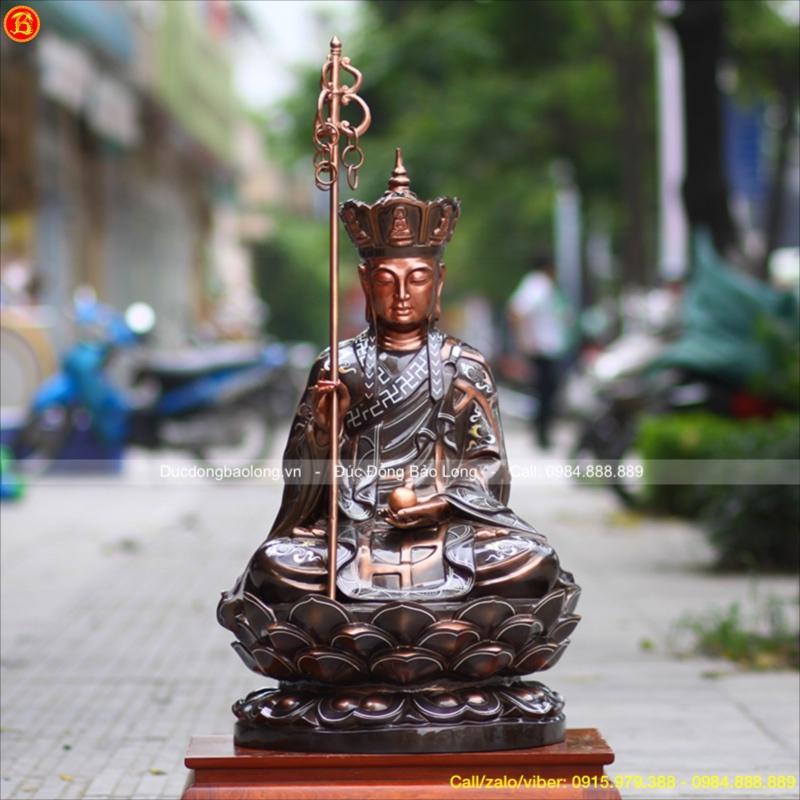 Tượng Địa Tạng Bồ Tát bằng đồng 89cm
