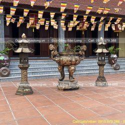 lư đồng đèn thờ đình chùa