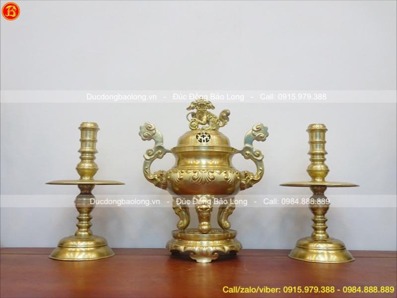 bộ tam sự bằng đồng vàng