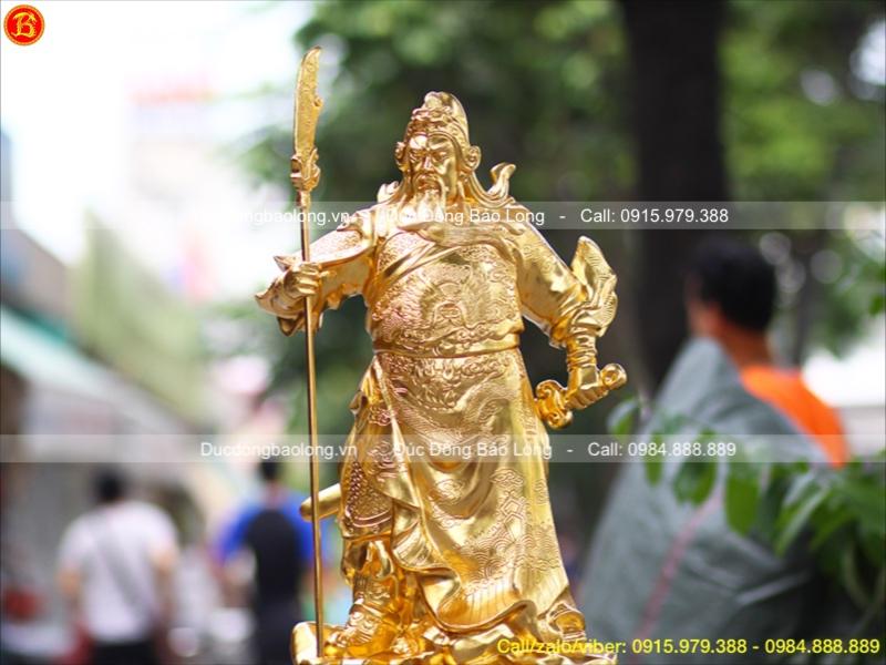 tượng quan công đồng dát vàng