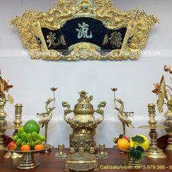 đồ thờ cúng bằng đồng vàng