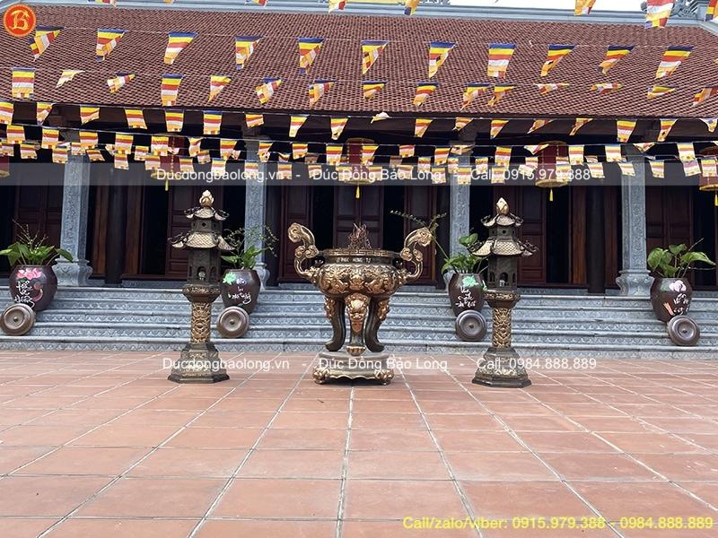lư hương đèn đồng đình chùa