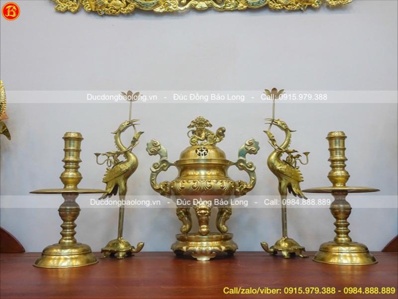 bộ ngũ sự bằng đồng vàng
