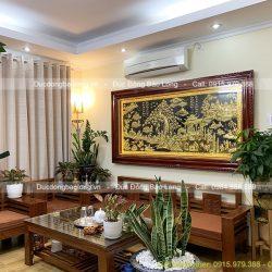 Treo Tranh Đồng Quê Bằng Đồng 2m3 Tại Cầu Giấy – Hà Nội