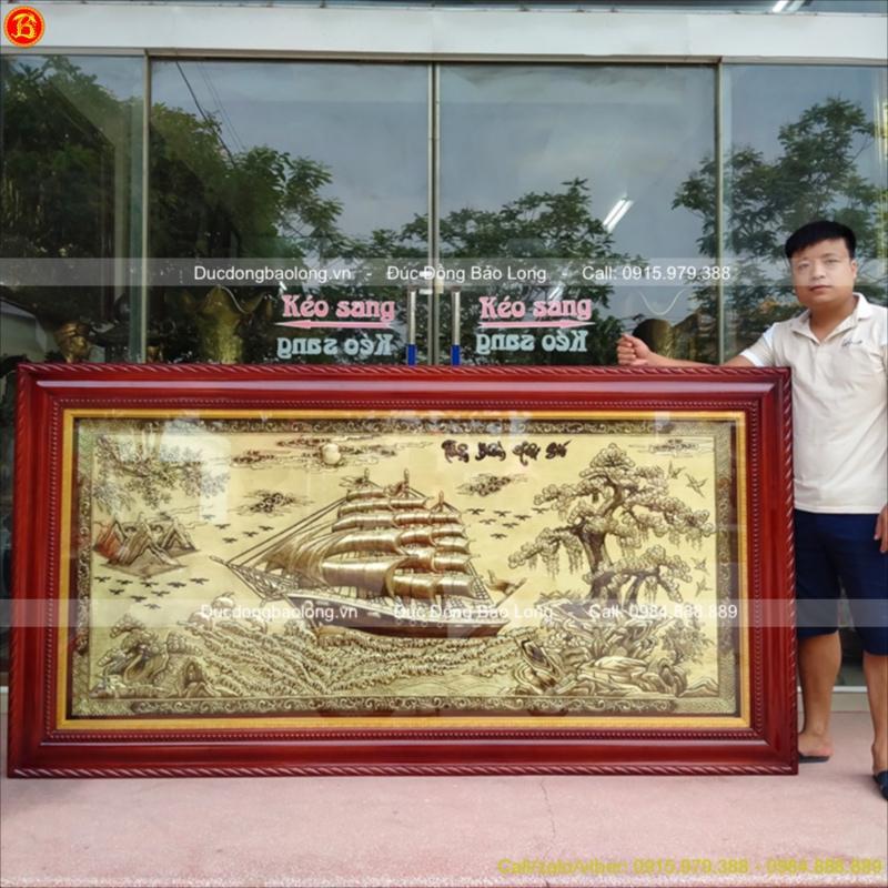 Tranh Thuận Buồm Xuôi Gió 2m3x1m2 Giá Rẻ Treo Phòng Khách