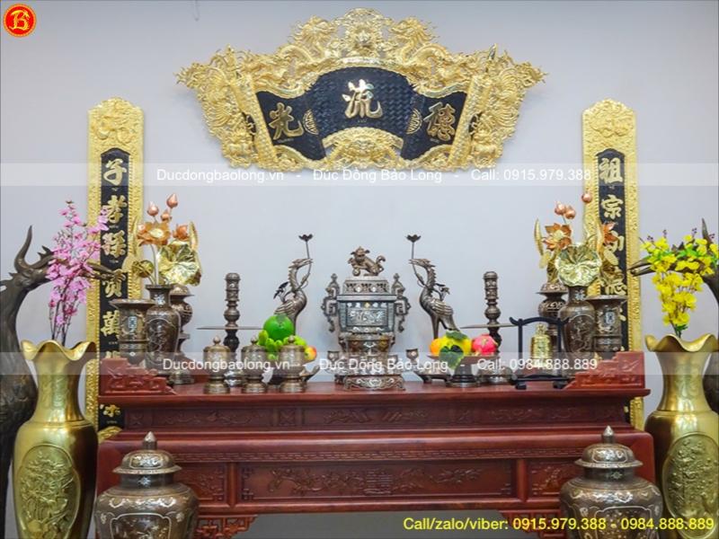 đồ thờ bằng đồng đầy đủ