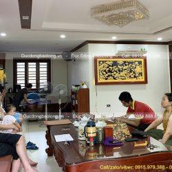 Treo Tranh Cửu Ngư Quần Hội Mạ Vàng 24k cho khách ở Thái Nguyên