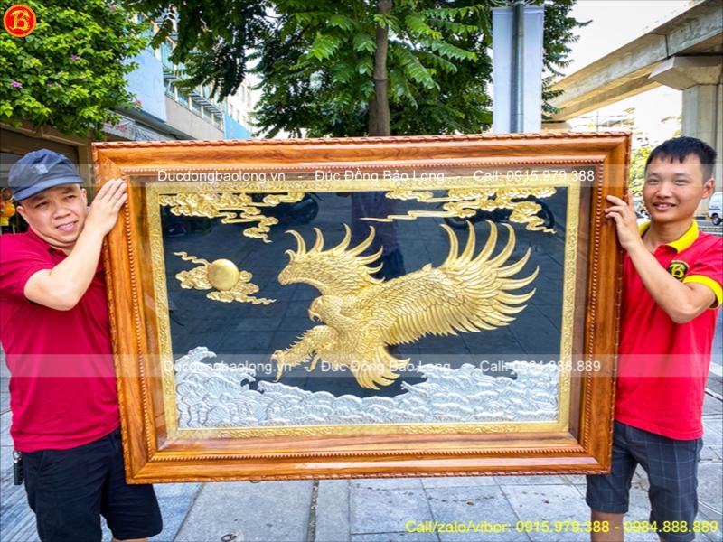 Tranh Đại Bàng Bằng Đồng Dát Vàng 1m55 Đẳng Cấp