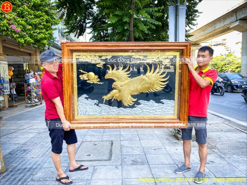 tranh đại bàng dát vàng
