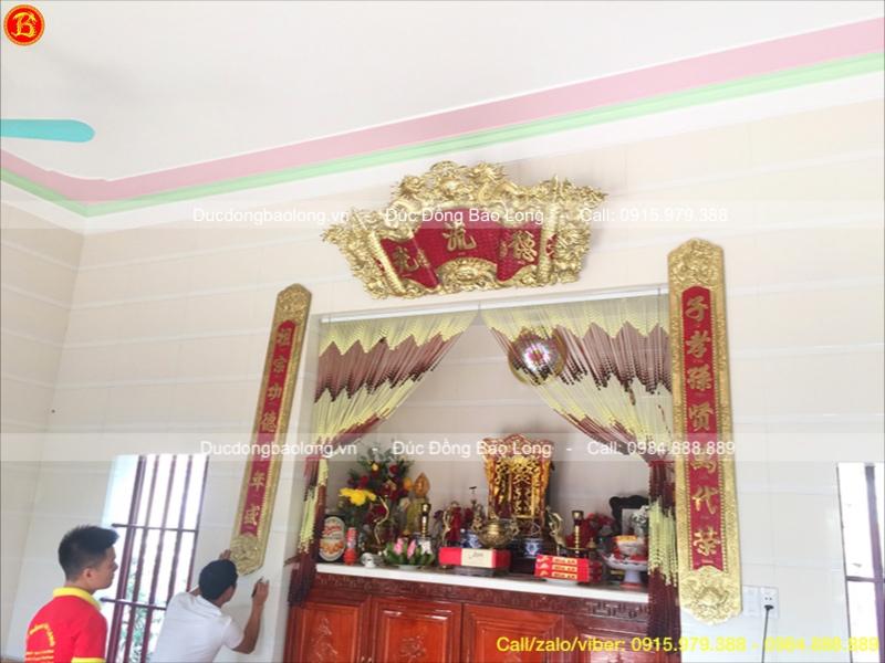 Cuốn Thư Câu Đối Bằng Đồng Vàng 1m76 khách Nam Định