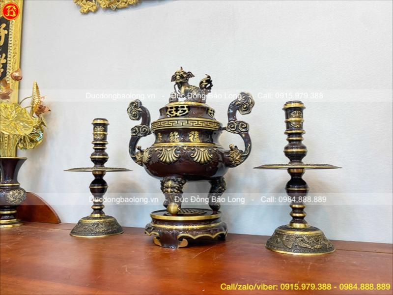 đồ thờ bằng đồng giả cổ