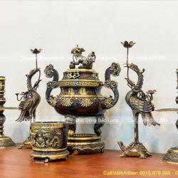 Nơi bán Bộ Đỉnh Đồng Ngũ Sự đẹp nhất – Đồ thờ bằng đồng cao cấp