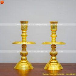chân nến thờ đồng dát vàng