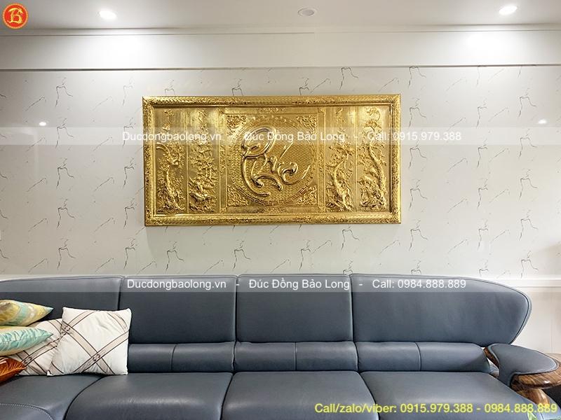 Tranh Chữ Phúc Tứ Quý Mạ Vàng 1m76 Khách Hải Phòng