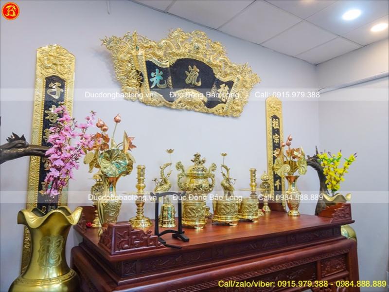 Bộ Lư đồng thờ cúng vàng bóng