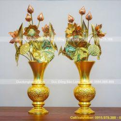 Top 10 mẫu Bình Bông, Lọ Hoa thờ Phật, cúng dường Tam Bảo rẻ, đẹp