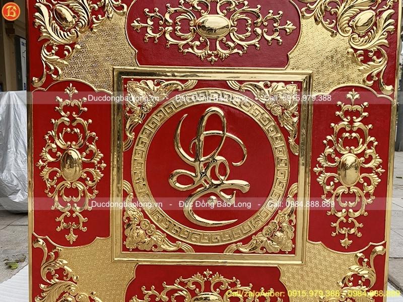 Tranh Đồng Chữ Lộc Mạ Vàng Vuông 1m27