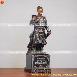 Top 10 tượng Trần Hưng Đạo khảm Tam khí bày phòng khách, phòng làm việc