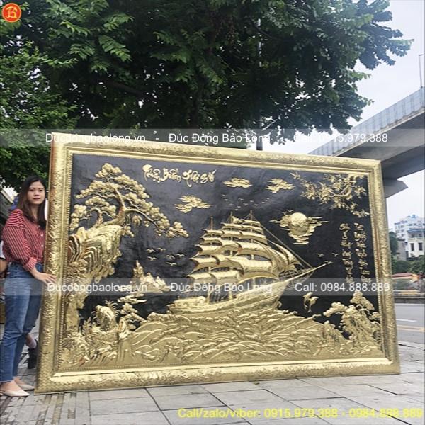Tranh Thuận Buồm Xuôi Gió Khung Đồng 2m97x1m93