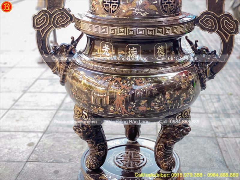 đỉnh thờ cỡ lớn đình chùa