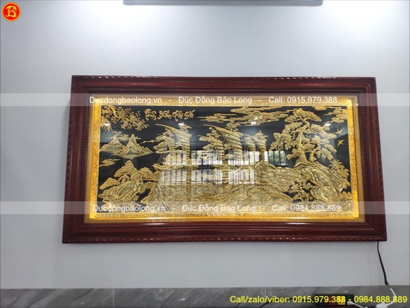 treo tranh đồng Thuận Buồm Xuôi Gió