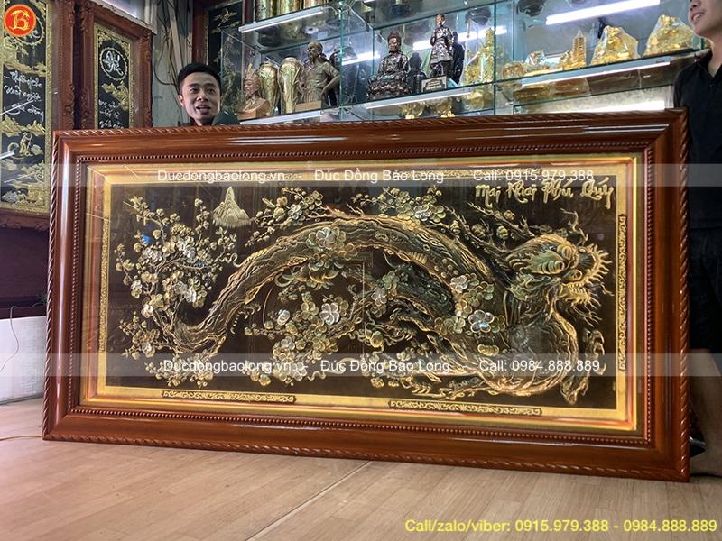 Tranh đồng Mai Khai Phú Quý