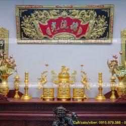 Bộ đồ thờ bằng đồng đầy đủ, chính xác gồm những gì?