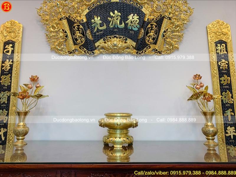 lư hương thờ bằng đồng catut