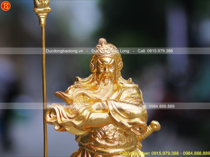tượng quan công bằng đồng dát vàng