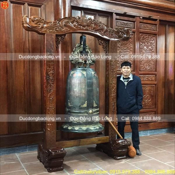 Đúc chuông chùa nặng 350kg cho chùa Thiện Minh, Quảng Ninh
