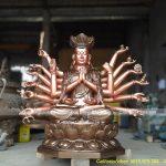 Báo giá tượng Phật Chuẩn Đề bằng đồng đẹp, đúc thủ công