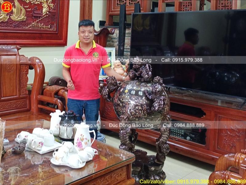 Đỉnh đồng thất lân trưng bày phòng khách cao 1m27 tại Nam Định