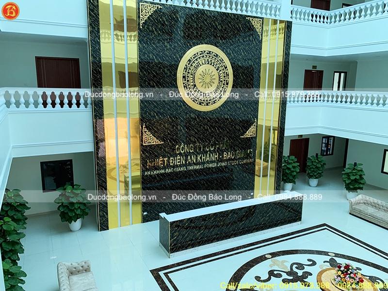 Lắp đặt mặt trống đồng dát vàng 9999 tại Nhiệt điện An Khánh, Bắc Giang