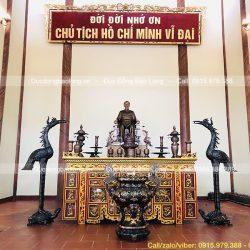 Hoàn thiện phòng thờ Bác Hồ tại Đền tưởng niệm Liệt sĩ Lâm Thao