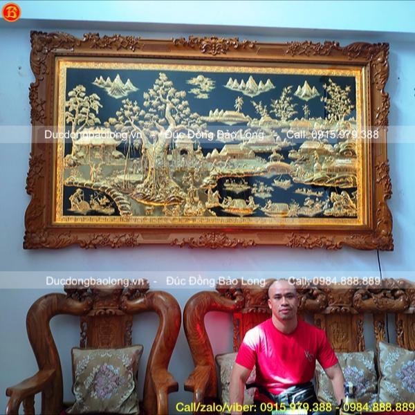 Tranh Cội Nguồn Quê Hương mạ vàng 2m62 cho khách Tp. HCM