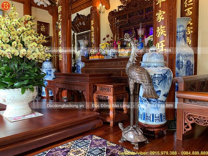 Đỉnh thờ, đôi Hạc khảm Tam khí cho khách Hải Phòng