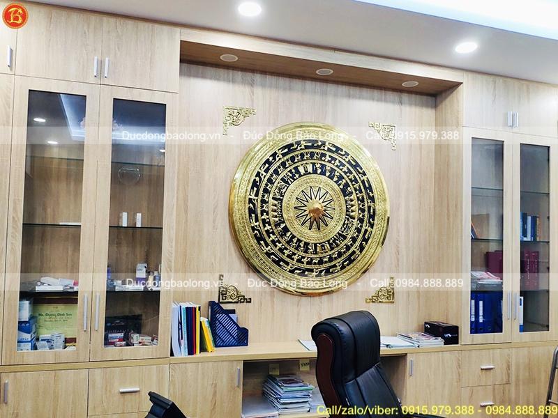 Mặt trống đồng Gò chạm Đk 80cm cho khách Hà Nội