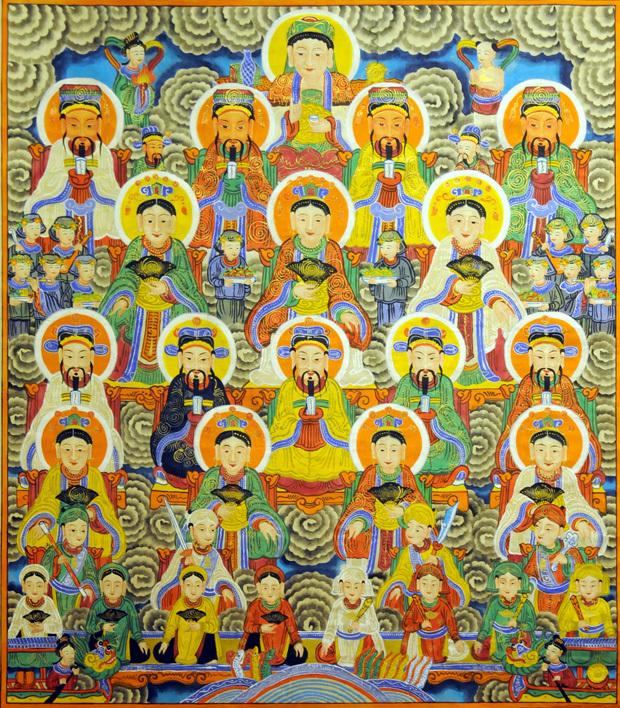 các vị thần thánh được thờ trong tứ phủ