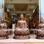 Địa chỉ đúc tượng Tam Thánh Phật uy tín, giá tại xưởng