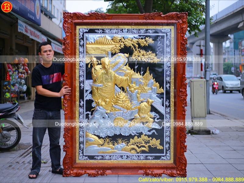 tranh phú quý cát tường mạ vàng dát vàng