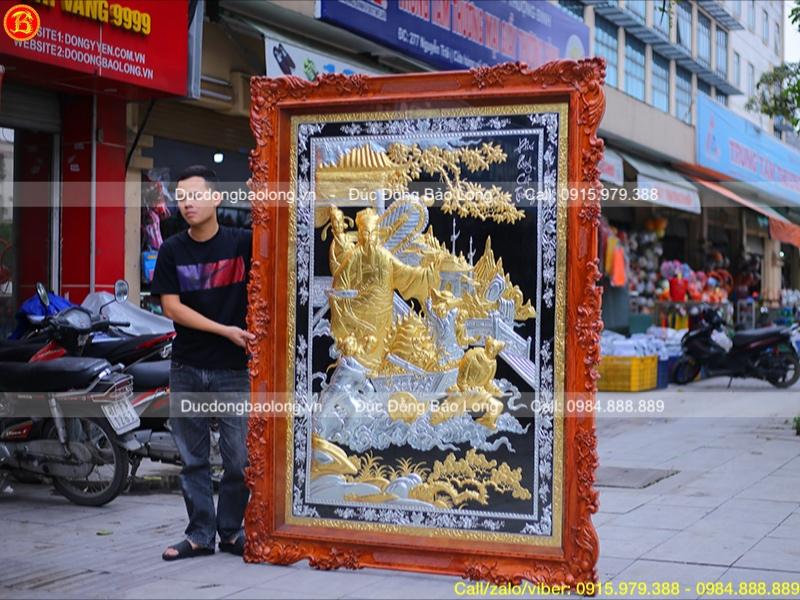 tranh phú quý cát tường mạ vàng dát bạc