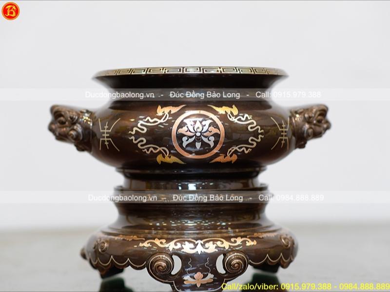 Bát hương khảm Hoa sen mẫu cổ truyền